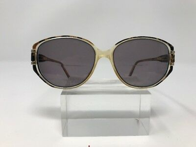 Simon Chang Sunglasses 53-15-135 Gold Antique Clear Marble Silver Black 4953