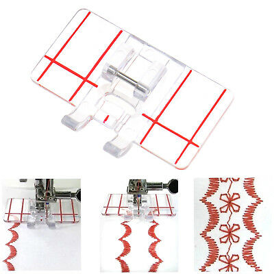 Universal Parallel Stitch Foot Presser Border Guide For Domestic Sewing Machine