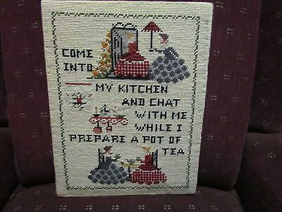 """Beautiful Unframed Needlepoint Sampler For Kitchen 11"""" By 14 """""""