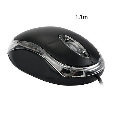 Mini Portable 1200 DPI USB Wired Optical Gaming Mice Mouses For PC Laptop 1.1m