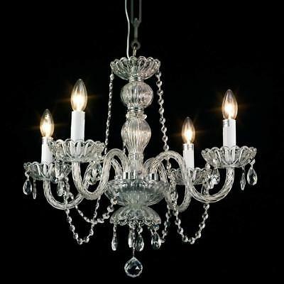 Mini Crystal Chandelier 4-Light Antique Small Pendant Chandelier Ceiling Light