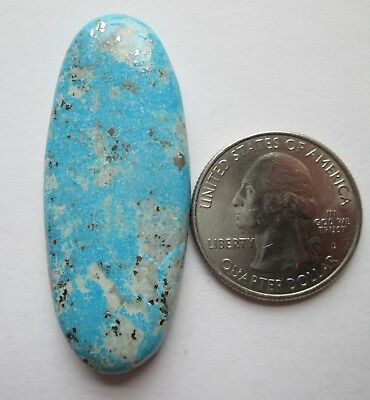 64.90 ct. 100% Natural Persian Turquoise Cabochon Gemstone with Pyrite # EL 061
