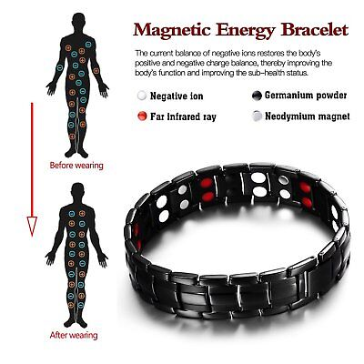 Magnetic Health Bracelet Carpal Tunnel Arthritis Bio Therapy Pain Relief H1