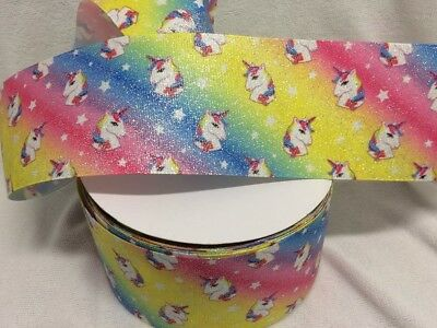 """Unicorn Ribbon 3"""" - 75mm wide Sold by 1 metre ideal for big jo jo inspired bow"""