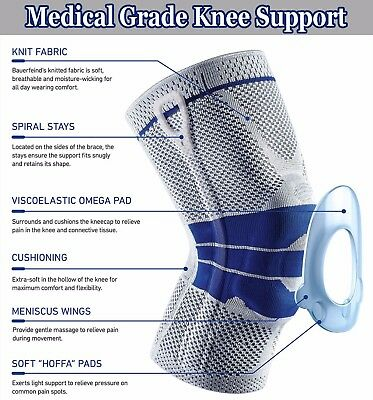 Knee Support Brace Kneepad Patella Tendon Gel Sleeve Sports Ligament Protect T3