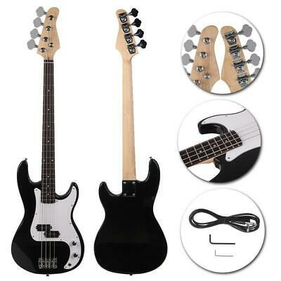 Fashion Black 4-String Electric Bass Guitar Burning Fire Style