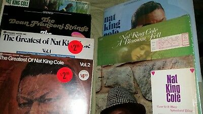 Awesome lot of 7  Nat King Cole 33 1/3 rpm Vinyl Records VERY GOOD CONDITION