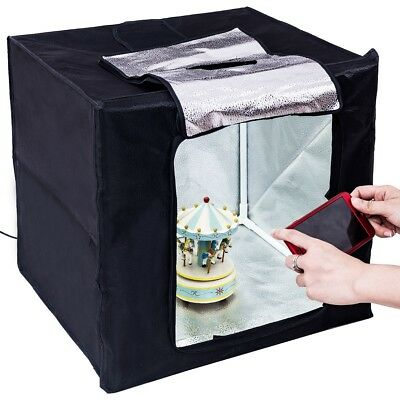 "Light Room Mini Photo Studio 16"" Photography Lighting Tent Kit Backdrop Cube Box"