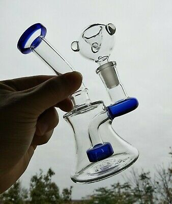 "Collectible Tobacco Glass Water Pipe Bong Bubbler Hookah Rig 6.5"" Bowls"