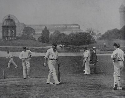 WG GRACE & HIS MERRY MEN CRYSTAL PL 1910 Print from Cricket of Today & Yesterday