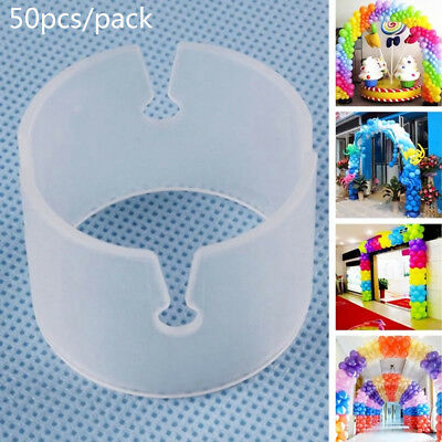 50pcs Balloon Arch Stand Connectors Clip Ring Buckle Wedding Birthday Decoration