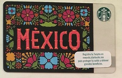 Starbucks 2017 Mexico 15th Anniversary Card RARE SOLD OUT