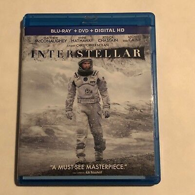 Interstellar Blu-Ray/DVD Like New Christopher Nolan