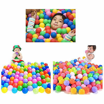 100pcs Multi-Color Cute Kids Soft Play Balls Toy for Ball Pit Swim Pit Pool Mm