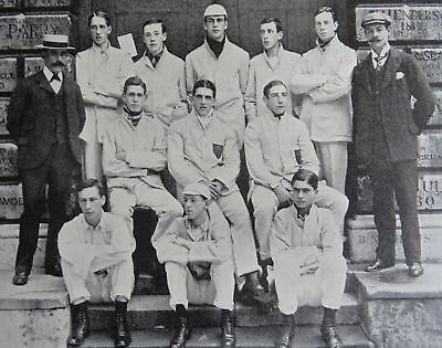 1901 WESTMINSTER SCHOOL TEAM 1910 Print from Cricket of Today & Yesterday