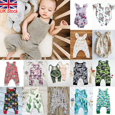 Newborn Infant Baby Boy Girl Summer Clothes Bodysuit Romper Jumpsuit Outfits NEW