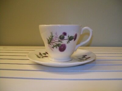 """Luckenbooth """"the Thistle"""" Bone China Cup And Saucer"""