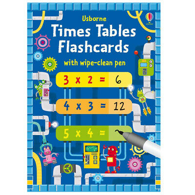 Usborne Times Tables Flashcards - Children's Multiplication Practice Cards