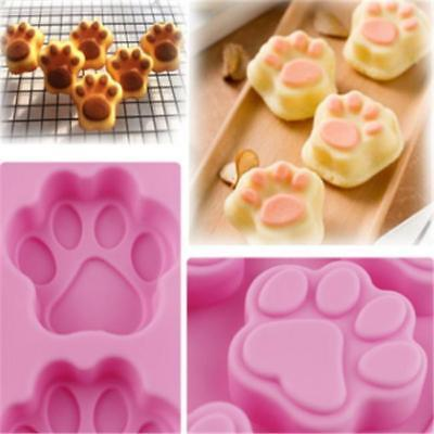 Paw Print Silicone Cat Dog Animal Cookie Cake Candy Chocolate Soap Ice Mold T