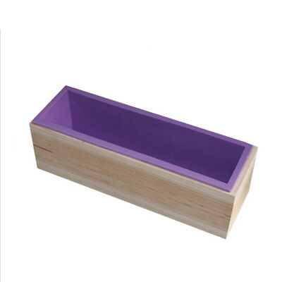AU Wood Loaf Soap Mould with Silicone Mold Cake Making Wooden Box 1.2kg soap DM
