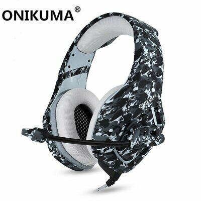 ONIKUMA K1 Stereo Bass Surround Gaming Headset MIC for PC PS4 Slim New Xbox One