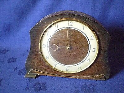 Vintage British 'Smiths Enfield' 8-Day  Mantel Clock  IN NEED OF TLC