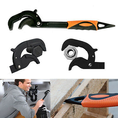 10 Inch Automatic Locking Pipe Wrench Pipes Installation Removal Household Tool