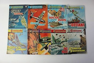 Collectible Commando War Stories In Pictures Job-Lot Very Early Edition 9 Books