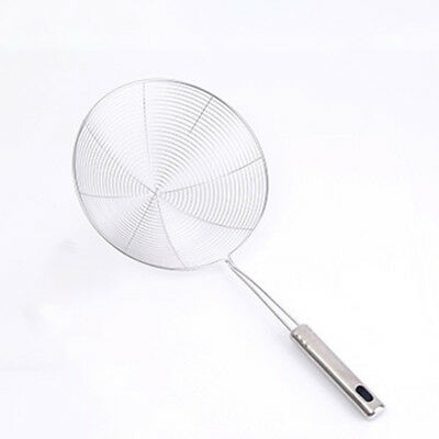 Heavy duty S.Steel Skimmer Chinese/Indian Strainer Ladle Frying Pakora, Chips