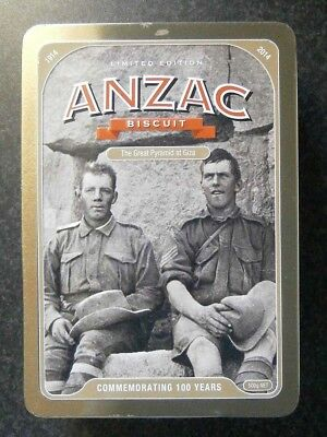COLLECTABLE 1914-2014 100 YEARS RSL ANZAC BISCUIT TIN - Great Pyramid at Giza