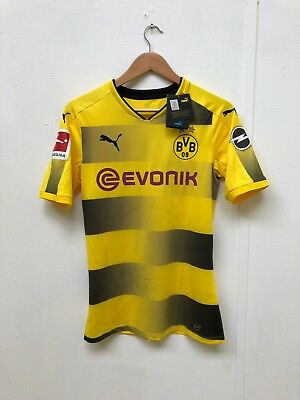 PUMA Mens Borussia Dortmund 17/18 ACTV Home Shirt- Medium -Yellow - Reus 11 -New
