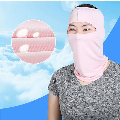 Summer Sunscreen Mask Full Face Breathable Ice Silk UV Protection Face Windproof