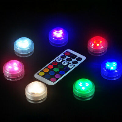 RGB LED Bulb Swimming Pool Light Submersible Underwater LED Light+Remote Control