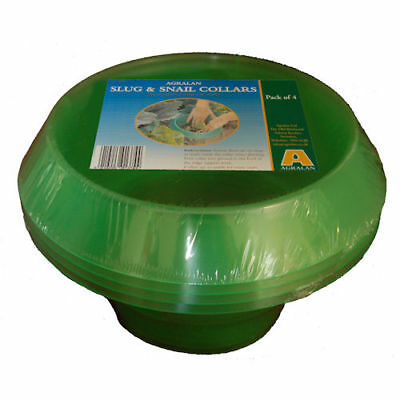 Pack Of 4 Slug Collars Protect Plants From Slugs Effective Reliable Barrier