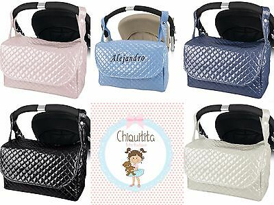 Traditional Spanish baby changing nappy bag,pram pushchair bag,plastic quilted