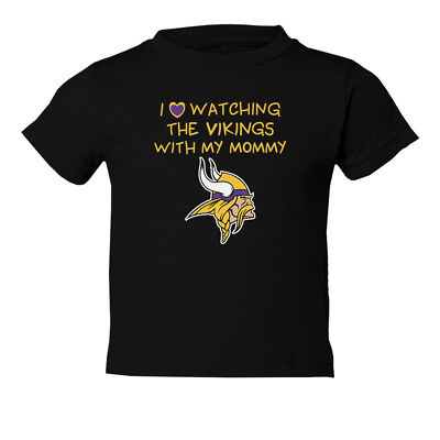 Minnesota Vikings Love Watching With Mommy Toddler T-Shirt