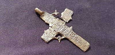 Superb Post Medieval bronze crucifix pendant.  Please read description. L30s