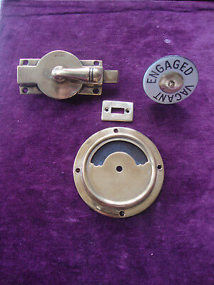Superb quality antique brass flip across vacant engaged toilet /bathroom lock