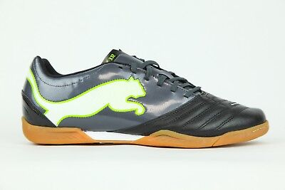 Mens Puma Powercat 3 12 IT Lace Up Indoor Black Leather Football Boots