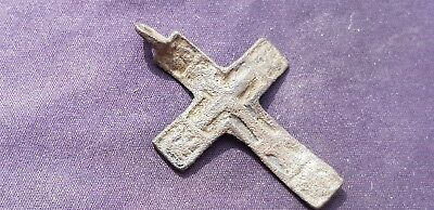 Superb Post Medieval bronze crucifix pendant. Please read description. L119z
