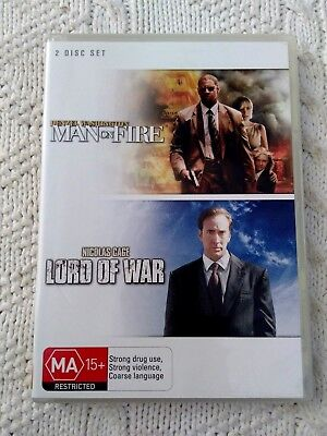Man On Fire / Lord Of War – Dvd, 2-Disc R-4, Like New, Free Post In Australia