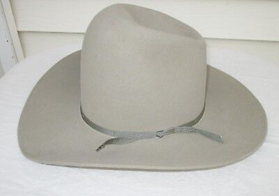 American Hat Company 1970s Gray Felt Cowboy Western Hat Size 7 3/8 Vintage
