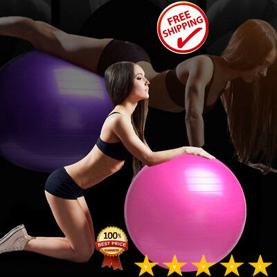 Proworks 65cm 55cm Exercise Ball Large Swiss Yoga Pregnancy Birthing Ball & Pump