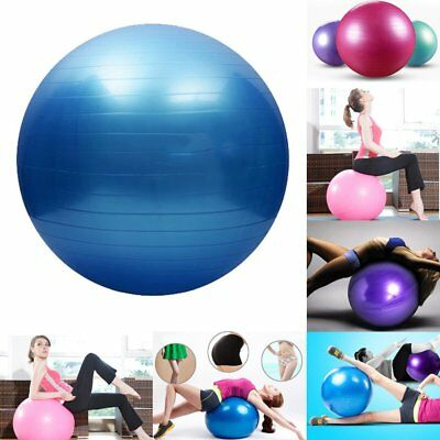 Blue Yoga Pilates Ball 85cm Soft Ball for Gym Fitness Core Exercise With Pump