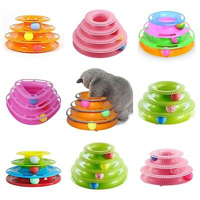 Funny Pet Toys Cat Crazy Ball Disk Interactive Amusement Plate Play Disc Quality