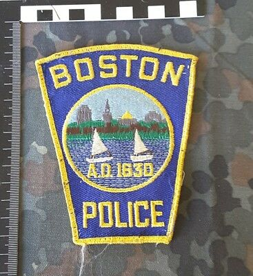 Stoffabzeichen Patch Boston Police Polizei USA 1