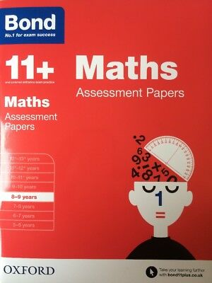 Bond 11+ Plus Maths Assessment Papers Book 1 Age 8-9 years No. 1 Exam Success