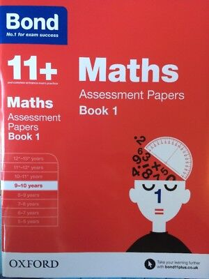 Bond 11+ Plus Maths Assessment Papers Book 1 Age 9-10 years No. 1 Exam Success