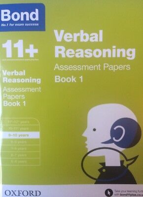 Bond 11+ Plus Verbal Reasoning Assessment Papers Age 9-10 years Book 1