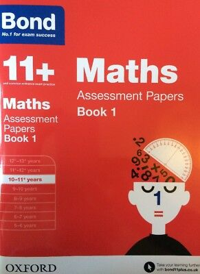 Bond 11+ Plus Maths Assessment Papers Age 10-11 Book 1 Number 1 For Exam Success